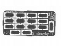 Detail 128 směrovky kovový lept