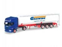 Herpa 306195 Scania R 13 TL kontejnerový návěs Greiwing