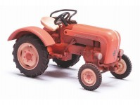 Busch 50009 traktor Porsche Junior K patinovaný červený