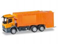 Herpa 307048 Mercedes-Benz Antos popelářský vůz oranžový