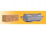 náklad - kontejner a dřevěná bedna