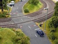 sada železničního přejezdu a přejezdového kříže