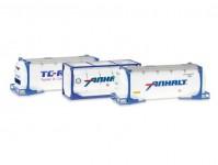 Herpa 076500-004 cisternový kontejner 3 x 20Ft Anhalt