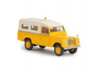 Brekina 13776 Land Rover 109 zavřený žlutý