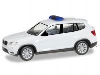 Herpa 013130 MiKi BMW X3 bílé s majákem
