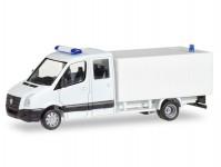Herpa 013185 MiKi VW Crafter se skříňovou nástavbou bílý