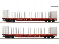 Roco 76142 set dvou klanicových vozů Rnoos-uz RCW VI.epocha