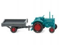 Wiking 95304 Hanomag R 16 s přívěsem modrý/šedý