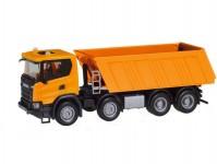 Herpa 309943 Scania CG 17 8x4 sklápěč oranžový