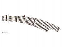 Roco 42473 výhybka oblouková pravá R3/R4 s ručním pohonem bez podloží