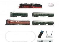 digitální set s parní lokomotivou řady 18.6, osobním vlakem a z21