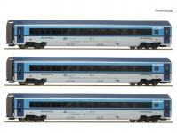 Roco 74140 set 2 vozů Railjet 3-dílný ČD VI.epocha