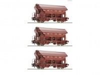Roco 76179 set výsypných vozů se střechou Tds SNCB IV.epocha