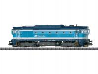 Trix 16738 dieselová lokomotiva 754 064-4 Brejlovec ČD VI.epocha