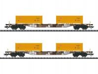 set kontejnerových vozů Sgns AAE/DB VI.epocha