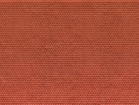 Noch 56690 3D střešní tašky bobrovky červené