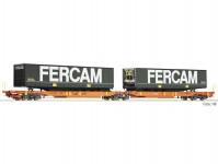 Fleischmann 825010 dvojitý kontejnerový vůz T2000 Wascosa VI.epocha