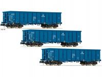 Fleischmann 852329 set otevřených vozů Eaos PKP Cargo VI.epocha