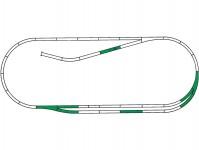 Roco 42011 kolejový set C Roco Line na podloží