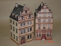 Jordan 611 dvojice starých městských domů 2 papírová stavebnice