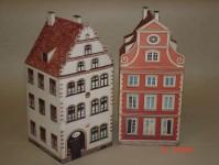 Jordan 610 dvojice starých městských domů 1 papírová stavebnice