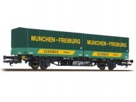 kontejnerový vůz Lgjss 571 2 s výměnnými korbami SCHENKER DB IV.epocha