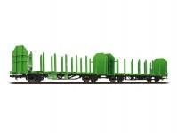 Liliput L235240 dvojice klanicových vozů Laaps 565 na dřevní kulatinu DB AG VI.epocha