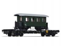 Liliput L235786 plošinový vůz s úzkorozchodným vagónem ÖBB IV.epocha