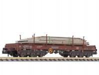 Liliput L265762 plošinový vůz Sahmms s ocelovými deskami DB AG V.epocha patinovaný