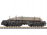 Liliput L265791 plošinový vůz Sahmms 357 s ocelovými deskami NS V.epocha patinovaný