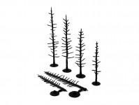 Woodland Scenics TR1125 kostry jehličnatých stromů 44 ks