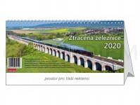 Literatura 69074 kalendář stolní 2020 - Ztracená železnice