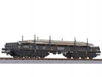 Liliput L235791 plošinový vůz Sahmms 357 s ocelovými deskami NS V.epocha patinovaný