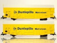 set zavřených velkoprostorových vozů Hbbks DB Dunlopillo IV.epocha (střední)