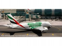 A380 Emirates Expo 2020 green