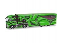 Herpa 310796-002 Renault T skříňový návěs Dynamics zelený