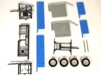 Modelauto 43018 valník zemědělský modrý stavebnice