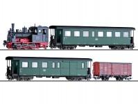 set vlaku s parní lokomotivou 99.57 III.epocha