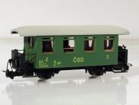 osobní vůz Bi/u 547 2.třídy ČSD IV.epocha
