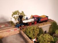parní lokomotiva 4-4-0 s tendrem Jupiter Central Pacific