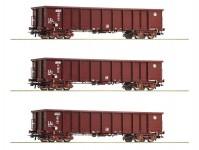 Roco 76091 set otevřených vozů Eanos HŽ Cargo