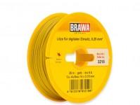 kabel jednovodičový žlutý 25 m