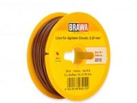 kabel jednovodičový hnědý 25 m