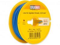 kabel jednovodičový modrý 25 m