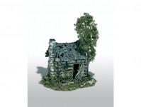 Mini-Scene opuštěná dřevěná chata