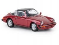 Brekina 16361 Porsche 911 G targa tmavě červená metalíza