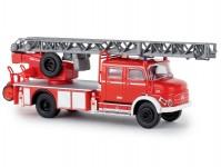 Mercedes L 1519 DLK 30 hasičský žebřík světle červený / bílý