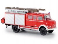 Brekina 47138 Mercedes LAF 1113 LF 16 hasič světle červený / bílý