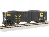 otevřený vůz s uhlím Chessie System