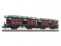 Fleischmann 822401 dvojice jednotných vozů na přepravu aut DB IV.epocha